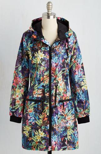 Drizzly Flair Rain Coat