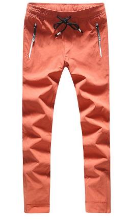 Zip Pocket Active Pants for Men