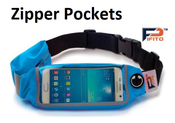 e9f847051484 Running Belt Waist Pack by Pifito – Two Zipper Pockets